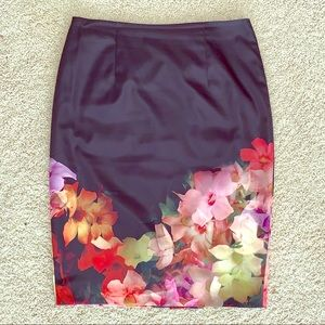 Ted Baker KAIKAI floral pencil skirt